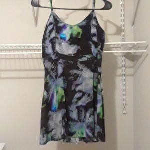 American Eagle Tropical Babydoll Dress